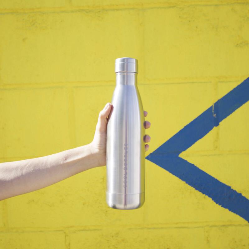 Tú botella de acero inoxidable - Metallic Silver 1