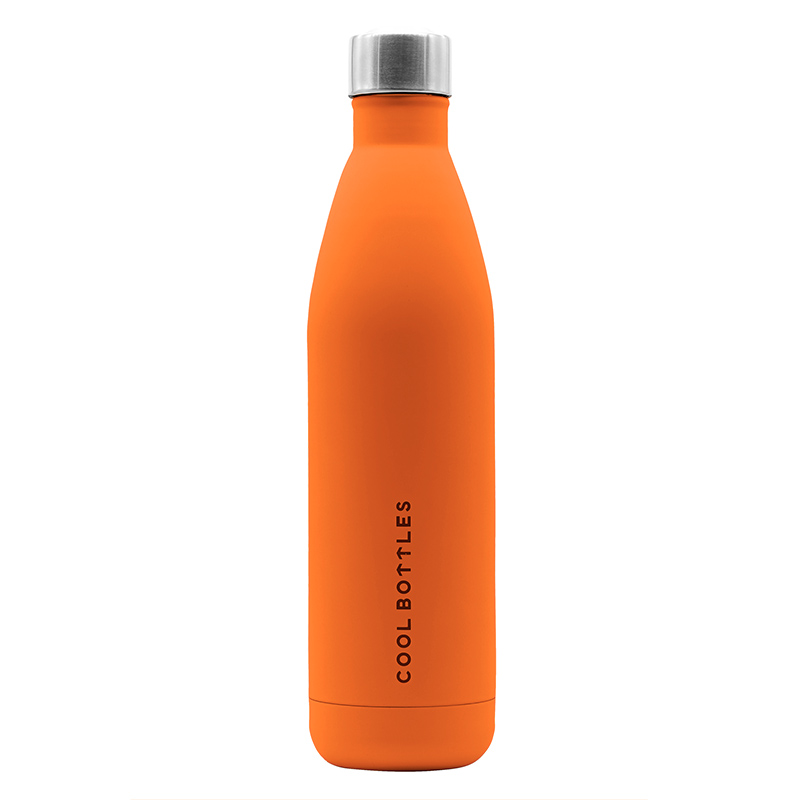 La botella de acero inoxidable Vivid Orange mantiene tus bebidas heladas hasta 24 horas y 12 horas caliente. Diseñada para personas urbanas. Vivid Orange