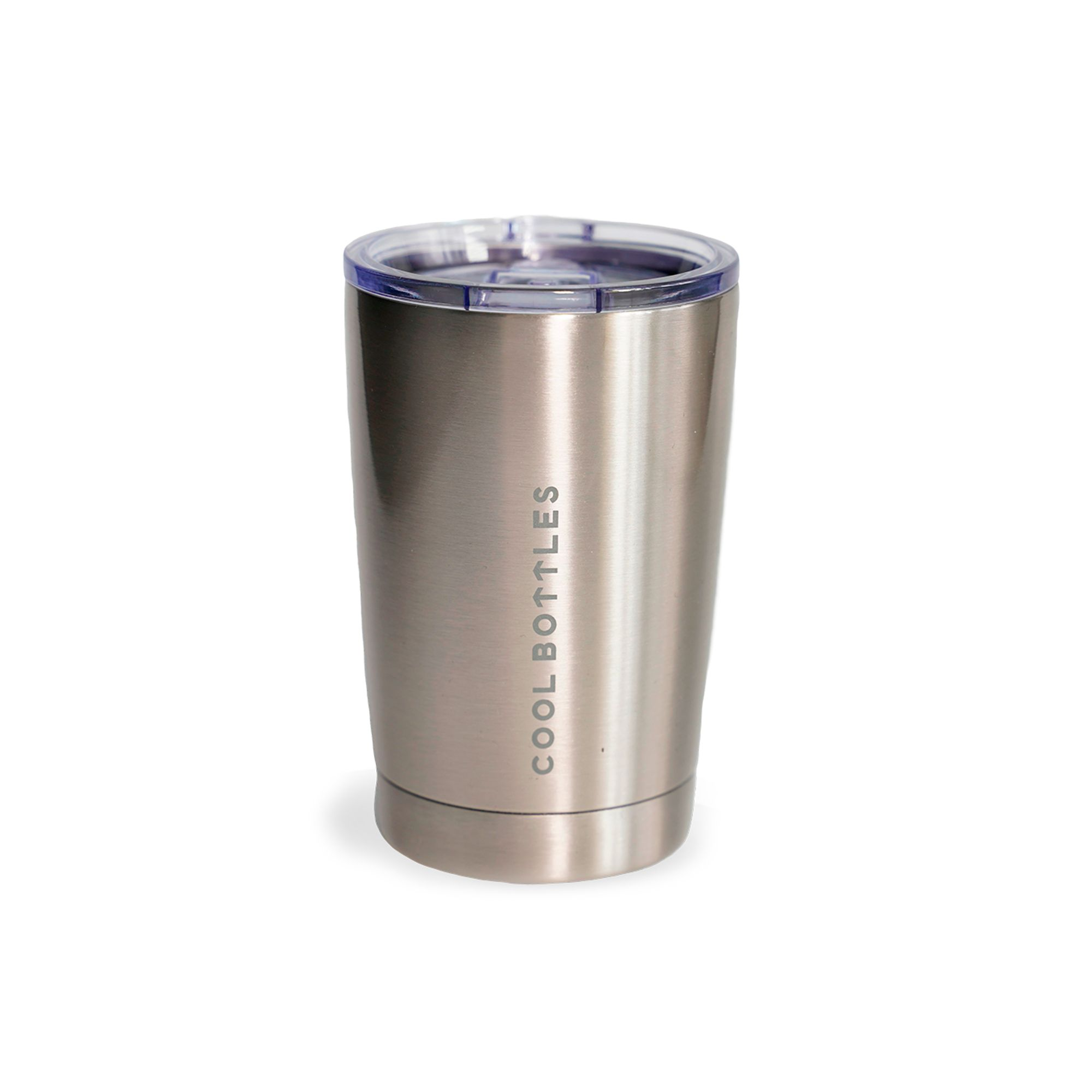 Vaso de acero inoxidable Metallic Silver