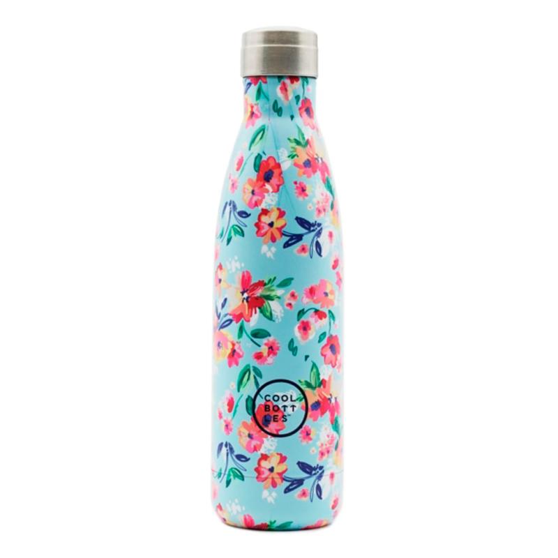Nueva colección de botellas de acero inoxidable con acabado en brillo y diseño floral