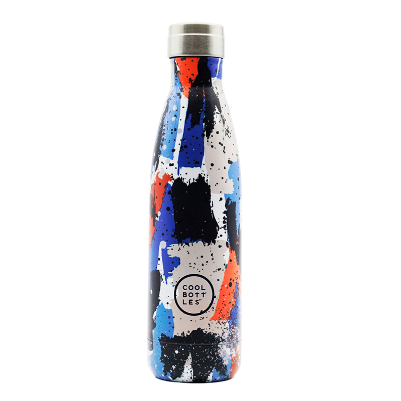 Nueva colección de botellas de acero inoxidable con acabado en brillo y diseño urban