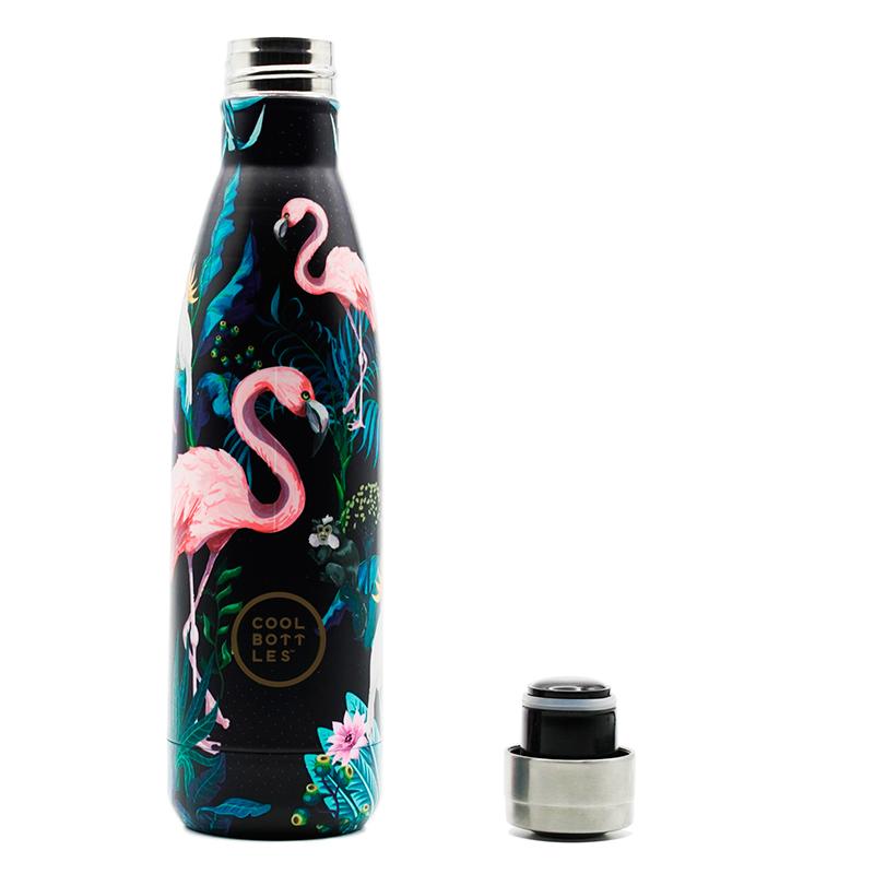 Nueva colección de botellas de acero inoxidable con acabado en brillo y diseño Tropical