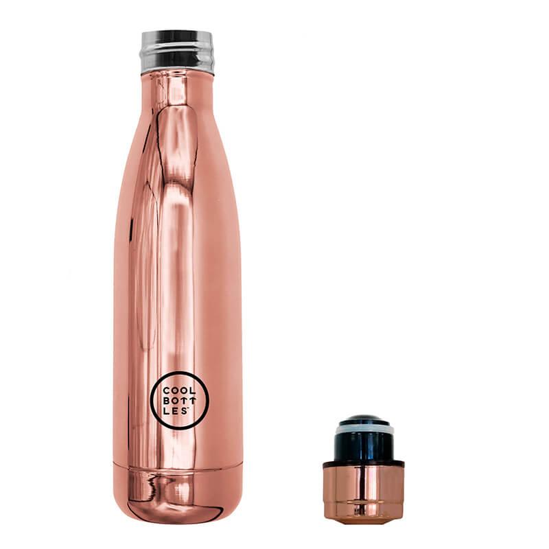 Nueva colección de botellas de acero inoxidable con acabado en brillo/chrome. Cool Bottles