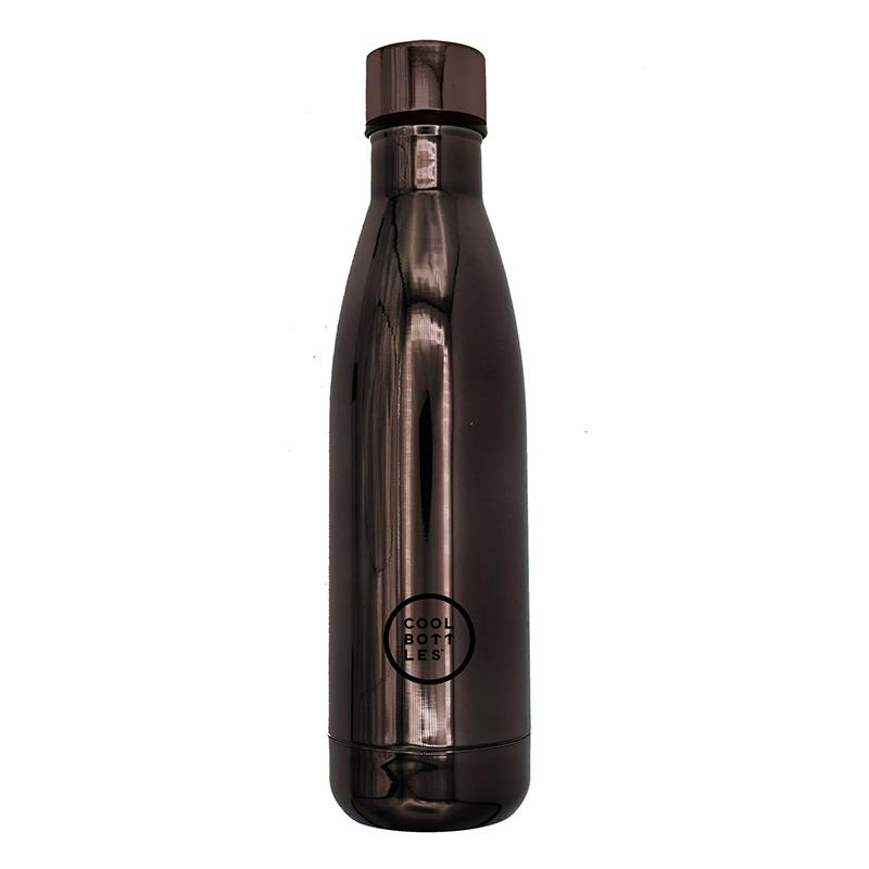 Nueva colección de botellas de acero inoxidable con acabado en brillo/chrome grafito. Cool Bottles