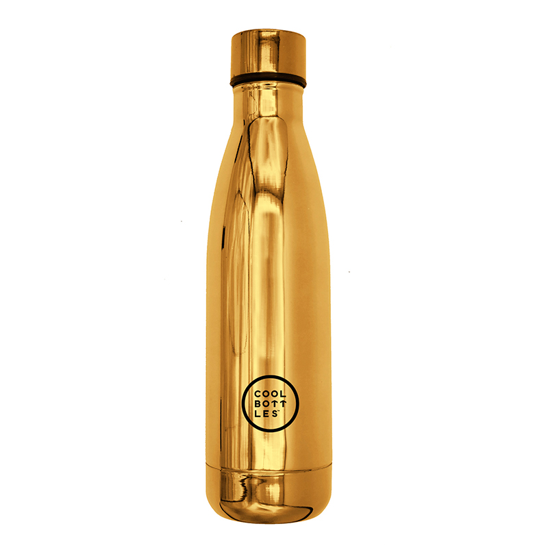 Nueva colección de botellas de acero inoxidable con acabado en brillo/chrome gold. Cool Bottles